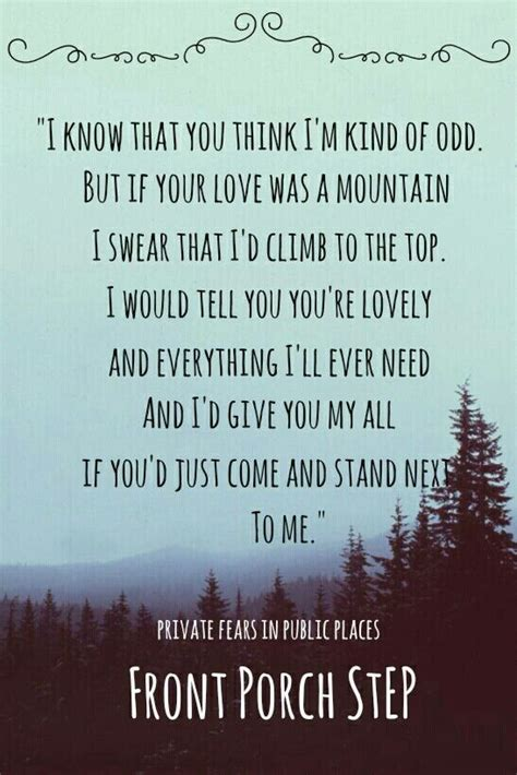 Front Porch Step Lyrics by Front Porch Step Fears In Places