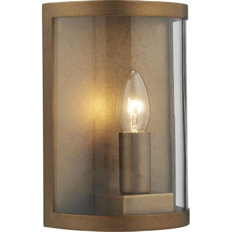 traditional rustic aged brass outdoor wall light ip44