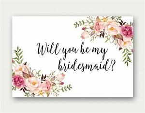 will you be my bridesmaid printable bridesmaid card With will you be my bridesmaid letter template
