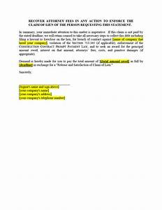Filing release of lien forms texas mechanics liens for Mechanics lien letter
