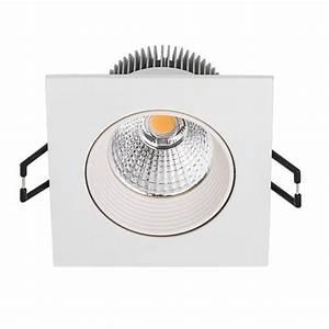 Spot Led Encastrable Plafond Faible Hauteur : spot led encastrable 8 5w 50w carr blanc chaud ~ Edinachiropracticcenter.com Idées de Décoration