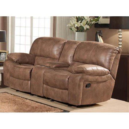 Dual Rocker Recliner Loveseat by Snuggle Up Dual Rocking Reclining Loveseat With Console