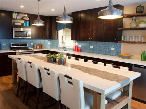 kitchen islands designs with seating brown and blue contemporary kitchen with large kitchen