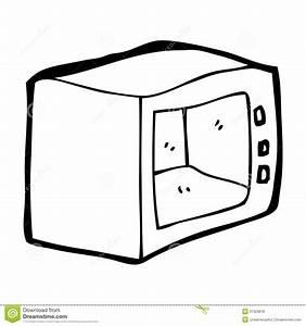 Cartoon microwave stock illustration. Illustration of ...