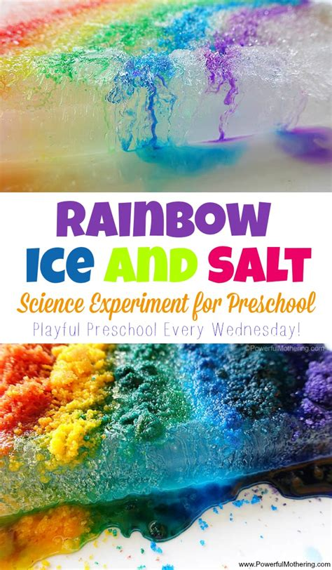 preschool science experiment rainbow and salt science experiment for preschool 482