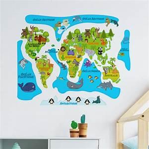 Carte Du Monde Sticker : sticker carte du monde b b color stickers stickers enfants carte du monde ambiance sticker ~ Dode.kayakingforconservation.com Idées de Décoration