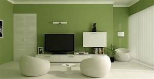 Farbe Weiß Streichen : gr nt ne wandfarbe 40 super vorschl ge ~ Whattoseeinmadrid.com Haus und Dekorationen