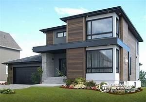 w3713 v1 maison contemporaine abordable 3 chambres With plan de maison moderne