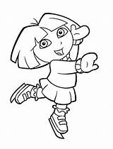 Coloring Skating Ice Pages Dora Colouring Printable Figure Popular Winter Library Clipart sketch template