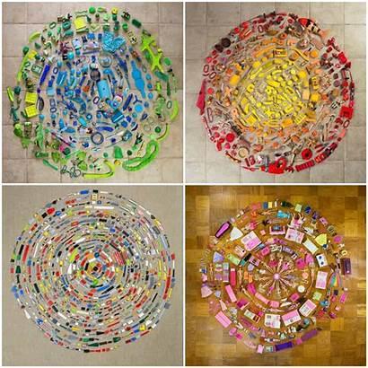 Objects Everyday Mandalas Mandala Found Object Recyclart