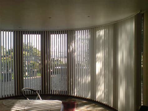 bend  curved headrail vertical blinds  bay bow