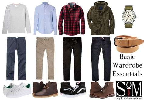 mens wardrobe essentials  style guide inspiration