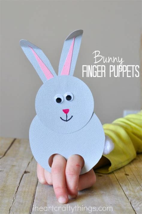 bunny preschool crafts incredibly bunny finger puppets i crafty things 683