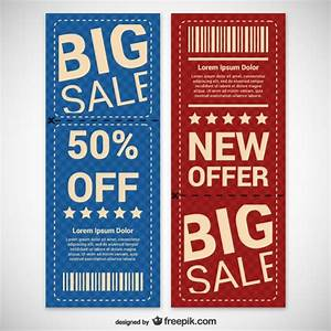 Discount coupons set Vector   Free Download