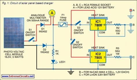 solar panel based charger and small led l circuit diagram