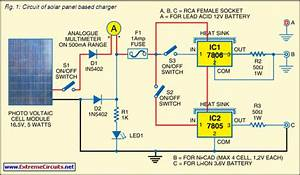 Solar Panel Based Charger And Small Led Lamp Circuit Diagram