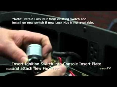 ignition switch installation youtube
