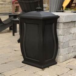 mayne mansfield 22 gal black trash can storage bin 5861 b