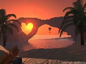 A Rose and Heart Sunset Beach