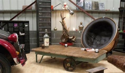 mobilier bureau industriel table basse chariot industriel mobilier industriel