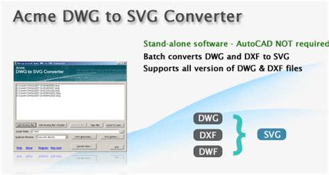 Try this free online app or get a total cad converter to process dozen of files! DWG to SVG Converter converts AutoCAD DWG to SVG