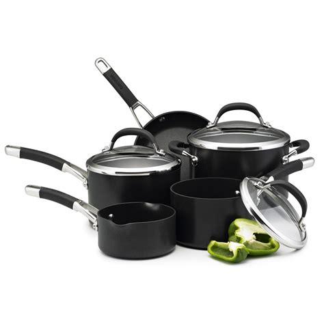 circulon cookware piece pans professional premier anodized non stick hard induction sets oven safe anodised saucepan aluminium hob amazon kitchenware