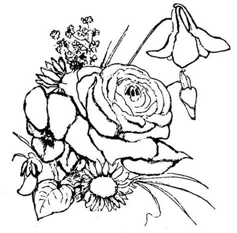 Kleurplaat Flower by Flower Arrangement Coloring Page Netart