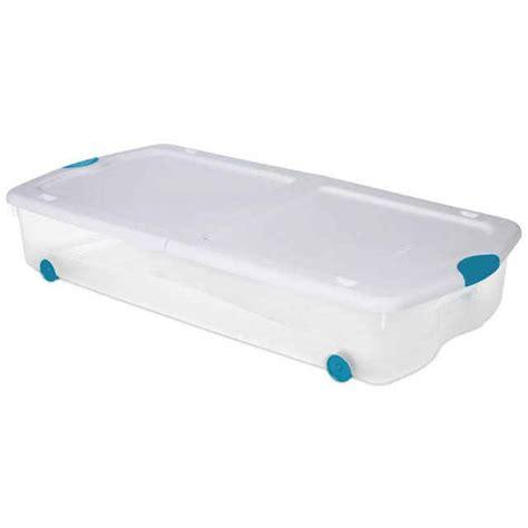 sterilite underbed storage with wheels 67 qt rolling