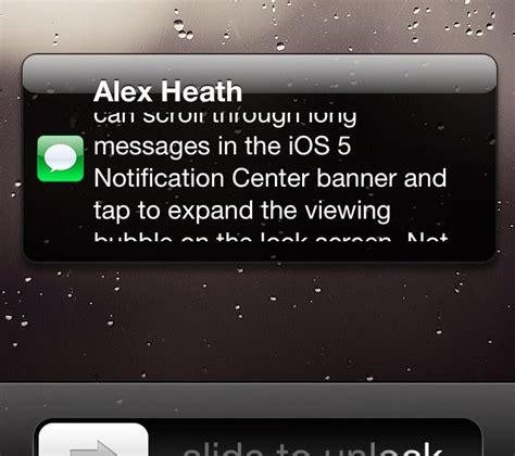how to lock messages on iphone reveal view longer messages inside banner and lock screen