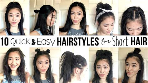 10 Quick & Easy Hairstyles For Short Hair // How I Style