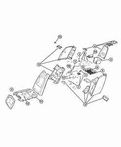 2006 Dodge Caravan Bracket  Console  Console Tray   Removable Center Frt Seat Console