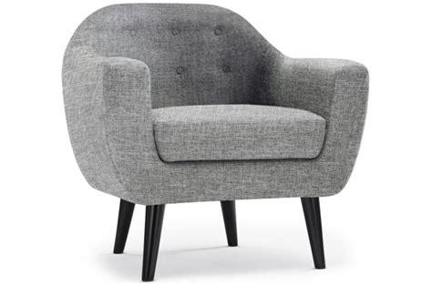 fauteuil scandinave fidelio tissu gris clair fauteuil design pas cher