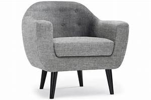 Design Fauteuil Pas Cher : fauteuil scandinave fidelio tissu gris clair fauteuil design pas cher ~ Teatrodelosmanantiales.com Idées de Décoration