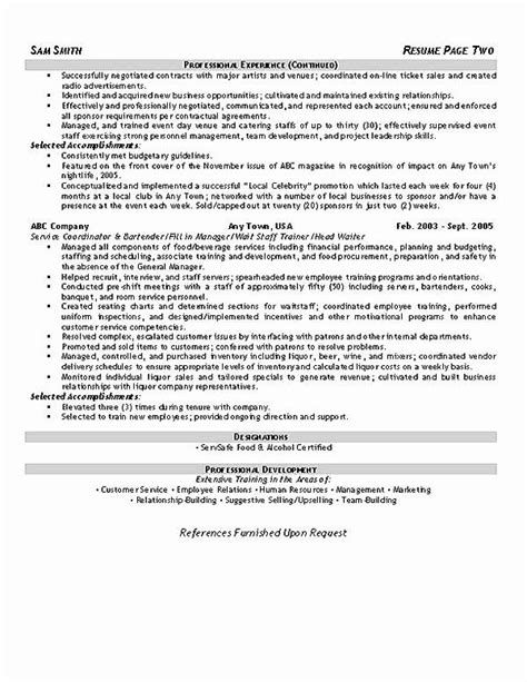 Hotel Sales Manager Resume Awesome Hospitality Resume Example in 2020 | Resume examples, Job