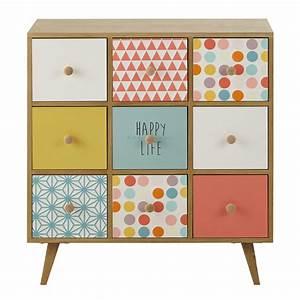 Cabinet En Bois Multicolore L 78 Cm Alix Maisons Du Monde