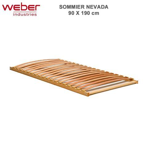 Sommier Et Matelas 90x190 by Sommier Nevada 90x190 Cadre Bois 18 Lattes Multiplis