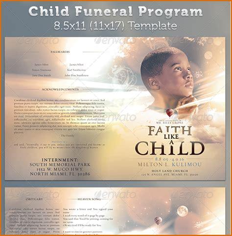 funeral program templates authorizationlettersorg