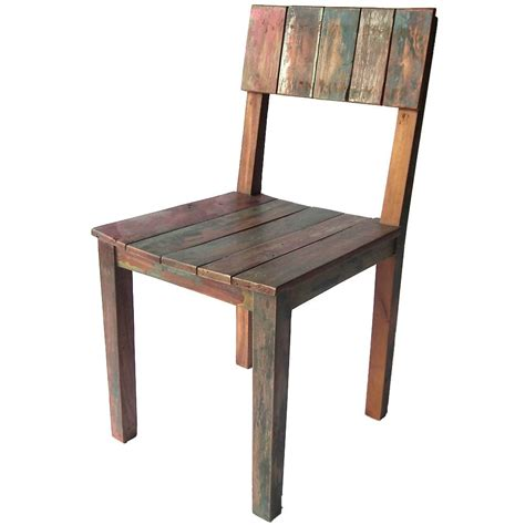 chaise couleur chaise bois couleur en teck recyclé coloré