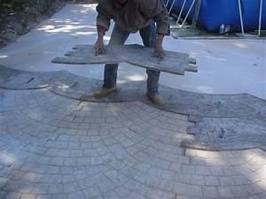 beton imprime comment realiser un beton imprime With wonderful creer une allee de jardin 17 fabrication dune terrasse