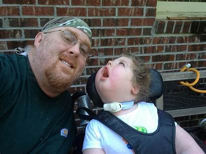 Disabled Daughter Ex Dad Caring His Daddy