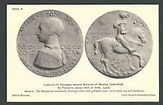 Ca 1910 PPC Lead Medal Ludovico III Gonzaga 2nd Marquis Of ...