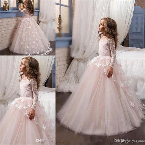 hot flower girls dresses  weddings long