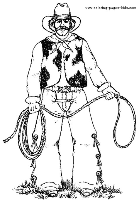 Cowboy Pictures To Color by Cowboy Color Page Coloring Pages For