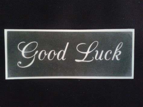 Good Luck Stencils For Etching On Glass