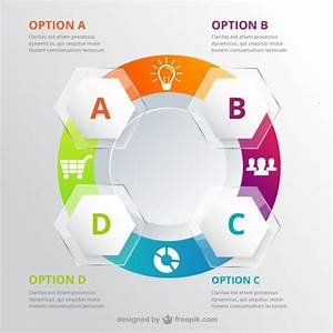 Circle Infographic For Workflow Vector