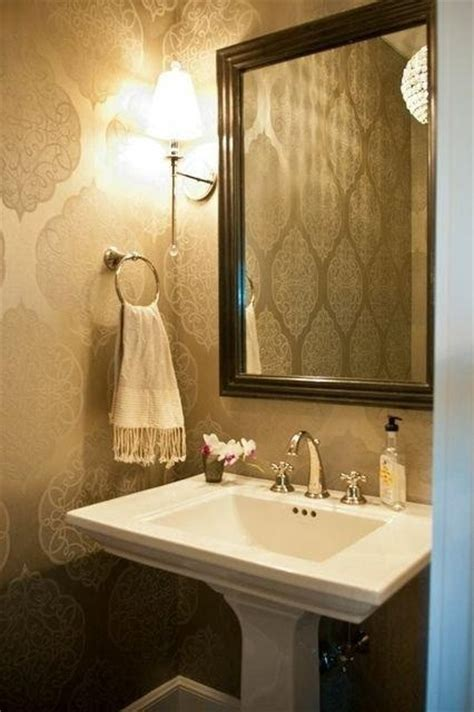 york country home transitional powder room