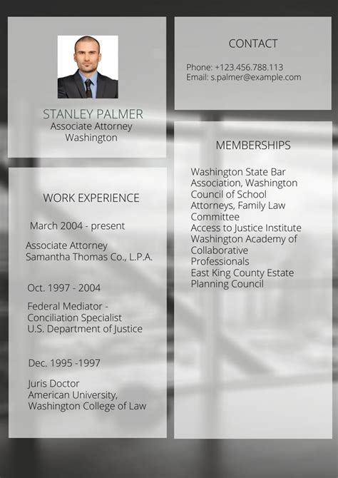 modelo de curriculo de representante legal  advogado