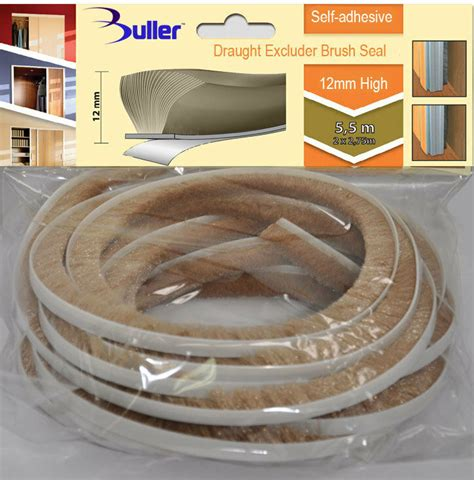 beige seal brush pile draught  dust excluder