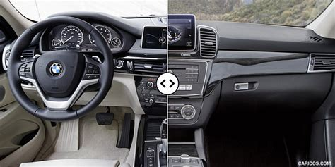 bmw   mercedes gle interior cockpit comparison