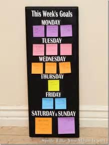 Weekly Goals Board